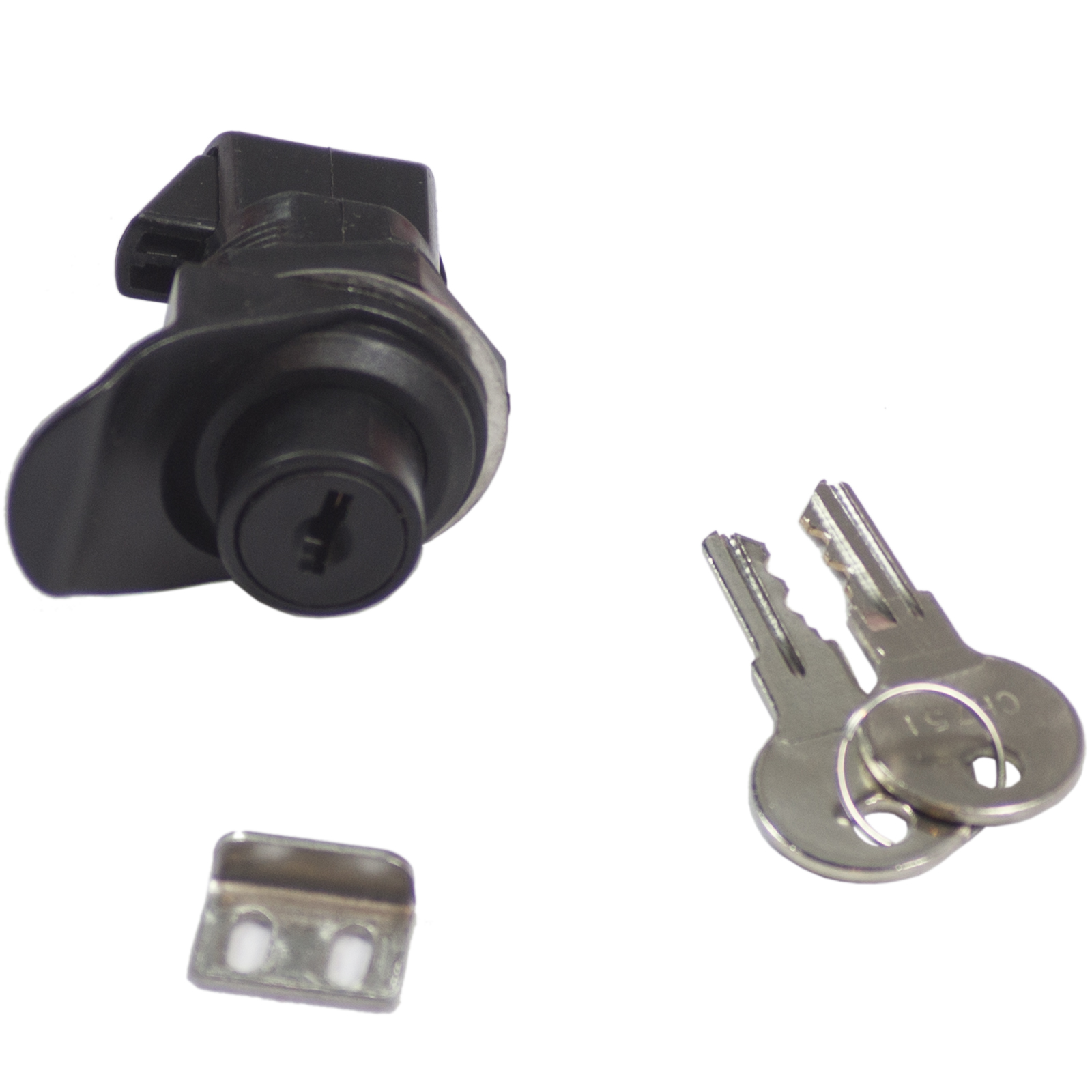 Black ABS Plastic Push Button Locking Latch