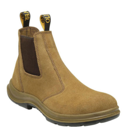 BEIGE SUEDE ELASTIC SIDED BOOT-SAFETY