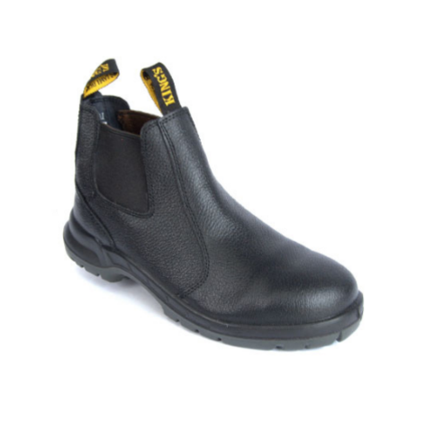 BLACK ELASTIC SIDED BOOT-SAFETY