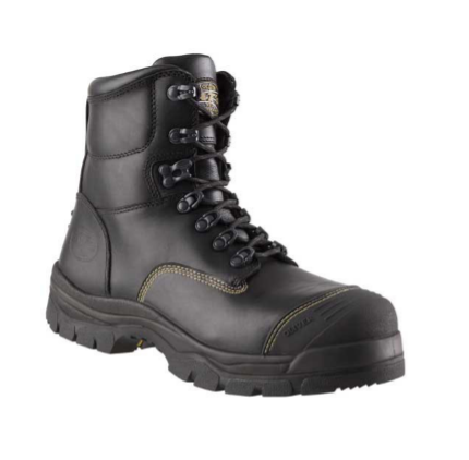 BLACK LACE UP BOOT-SAFETY 150MM