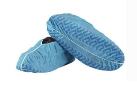 BLUE NON-SLIP DISPOSABLE OVERSHOES