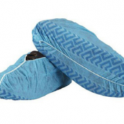 BLUE NON-SLIP DISPOSABLE OVERSHOES