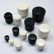 "ROUND EXTERNAL PVC TIP 1-1/4"" BLACK"