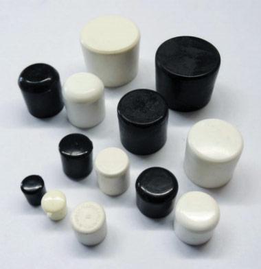 """ROUND EXTERNAL PVC TIP 1-1/4"""" WHITE"""