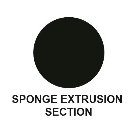 SPONGE RUBBER EXTRUSION -  ROUND - DIAMETER  4.8MM - LENGTH 30M