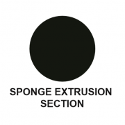 SPONGE RUBBER EXTRUSION -  ROUND - DIAMETER  8MM - LENGTH 30M