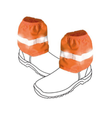 HI-VIS OVERBOOTS WITH TAPE