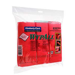 MICROFIBRE CLOTH WYPALL,RED 40X40CM