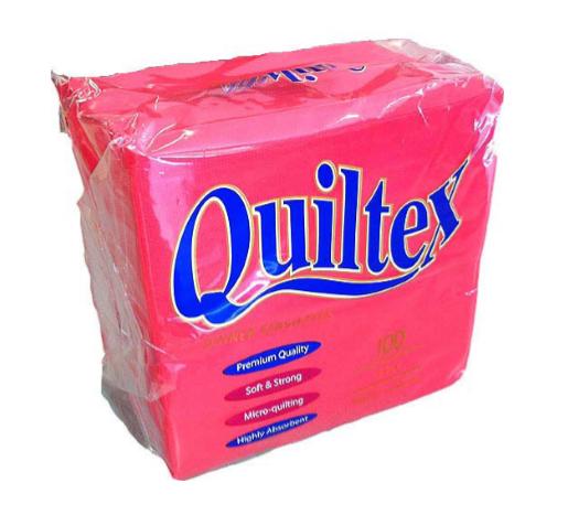 NAPKIN QUILTEX RED #QD217R