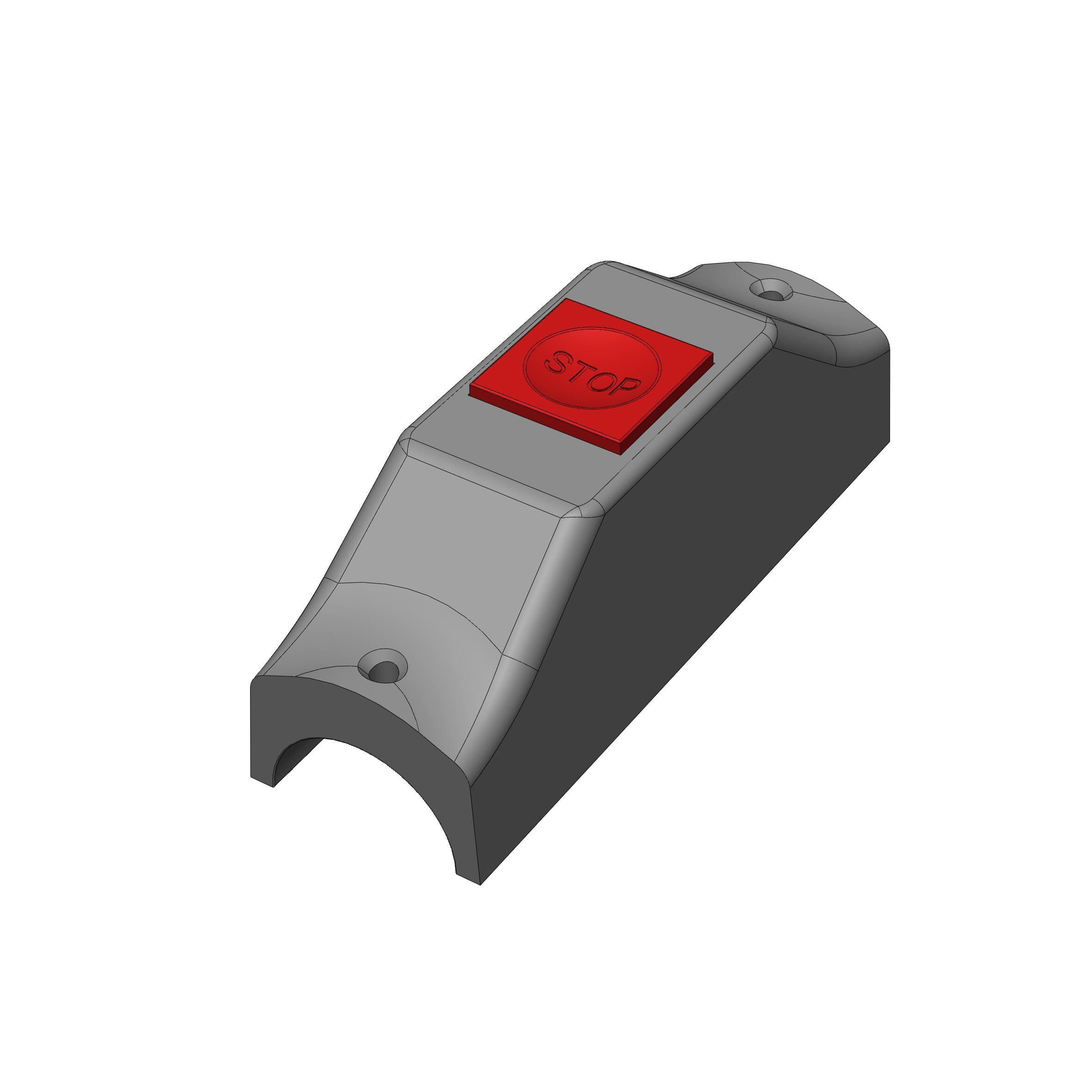Bell Push - Raised Button - 35mm Rail