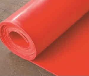 SILICONE RED RUBBER SHEET 1200MM X 4MM