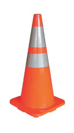 450mm Reflect Collar Traffic Cone