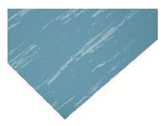 RUBBER FLOORING 1 METRE ( BLUE / WHITE)