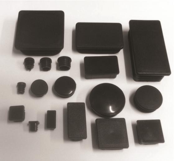 TUBE INSERT RECTANGULAR 1-3/8 X 3/4 BLACK