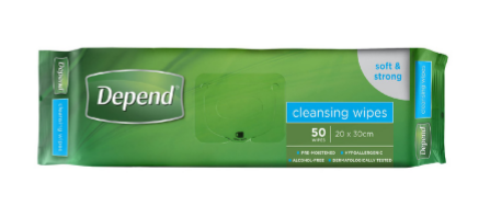 WIPES DEPEND 50PKTS X 14