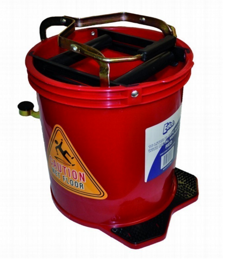 WRINGER BUCKET METAL ACTION RED
