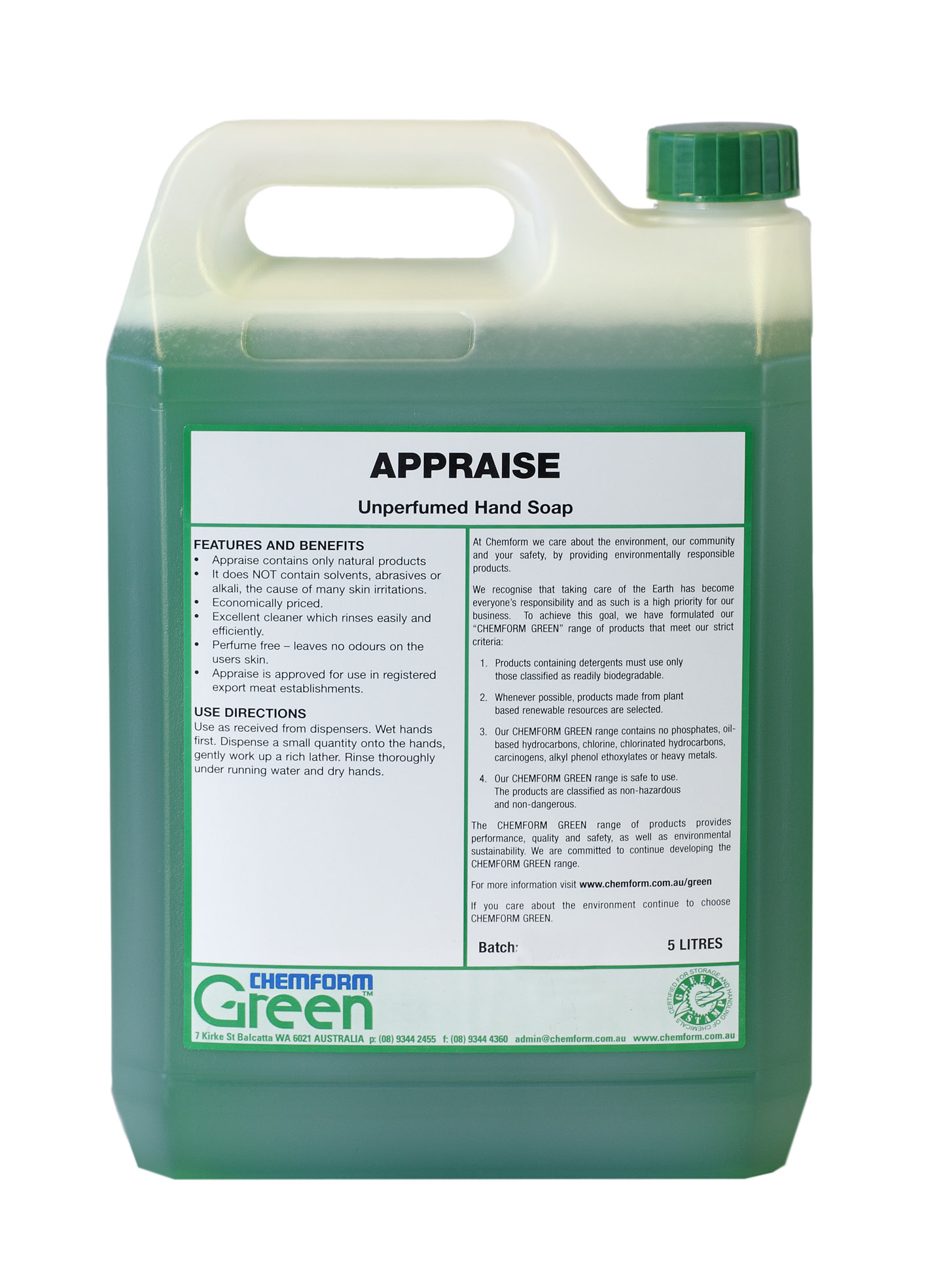 appraise hand soap