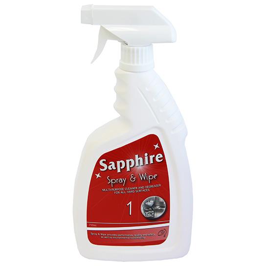 sapphire #1 spray & wipe 750ml